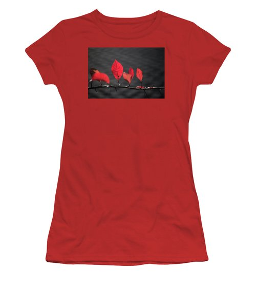 Colorful Tree Leaves Changing Color For Auyumn,fall Season In Oc Women's T-Shirt (Junior Cut) by Jingjits Photography