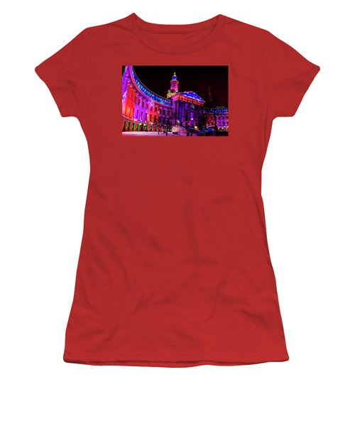 Denver City And County Building Holiday Lights Women's T-Shirt (Athletic Fit)