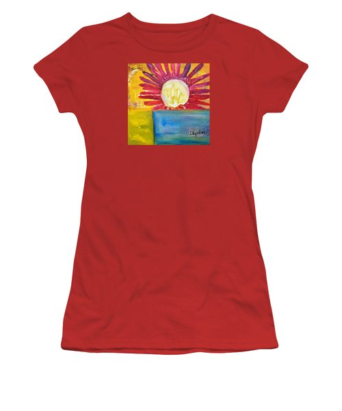 Women's T-Shirt (Junior Cut) featuring the painting Floral by Evelina Popilian