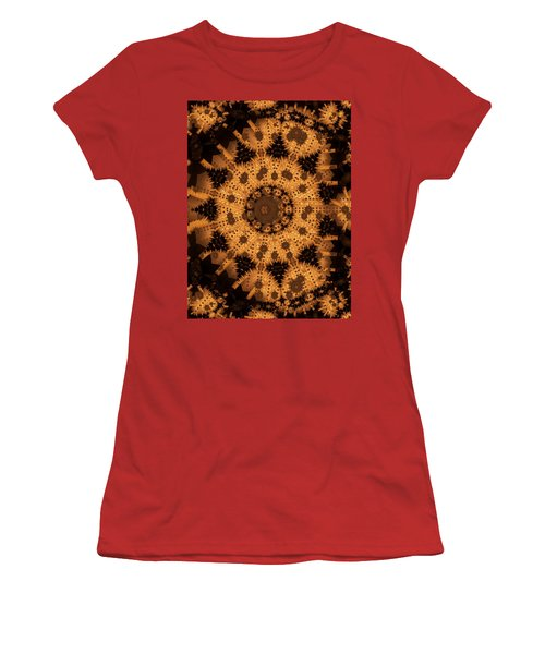 Women's T-Shirt (Junior Cut) featuring the digital art Interaction by Ron Bissett