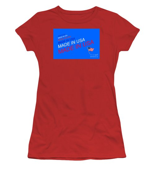 Made In Usa Women's T-Shirt (Athletic Fit)