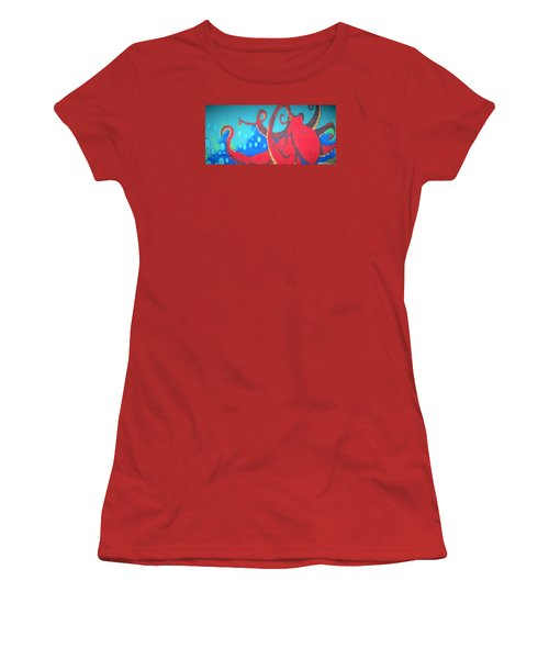 Octopus Women's T-Shirt (Junior Cut) by Martin Cline