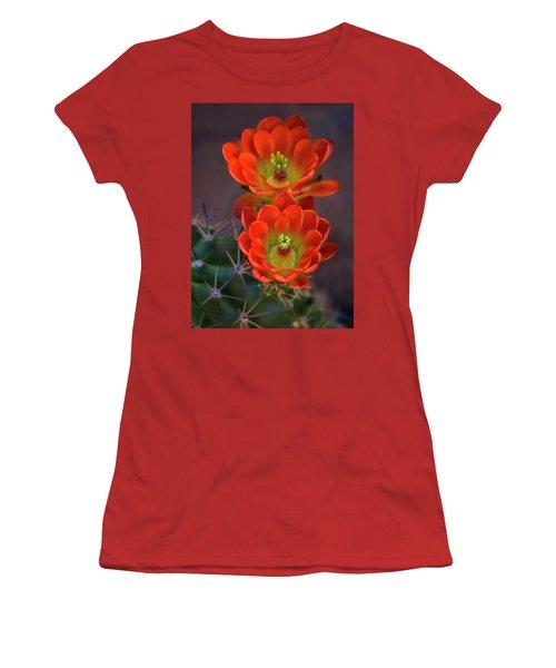Women's T-Shirt (Athletic Fit) featuring the photograph Orange Ya Beautiful  by Saija Lehtonen