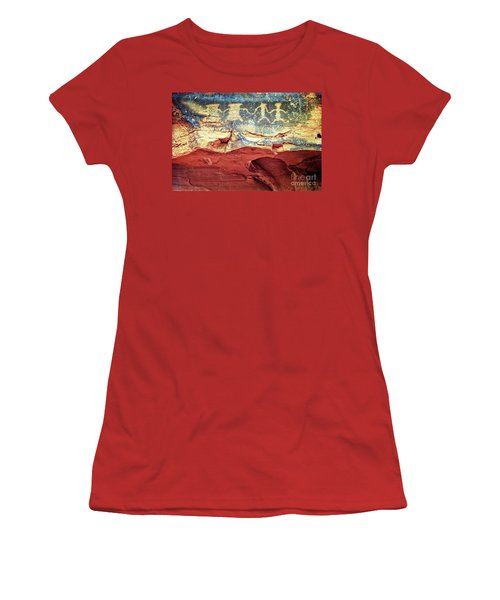 Red Rock Canyon Petroglyphs Women's T-Shirt (Athletic Fit)