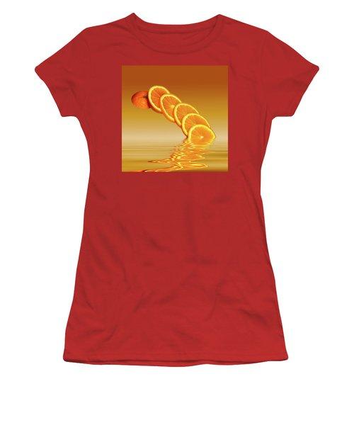 Slices Orange Citrus Fruit Women's T-Shirt (Athletic Fit)