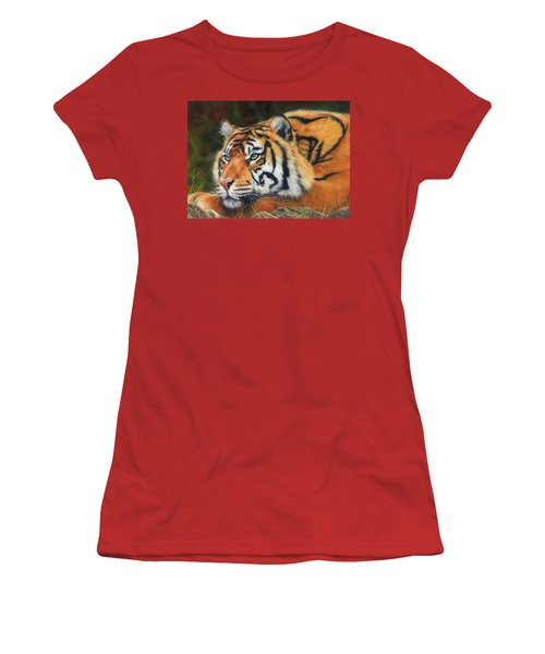 Sumatran Tiger  Women's T-Shirt (Athletic Fit)