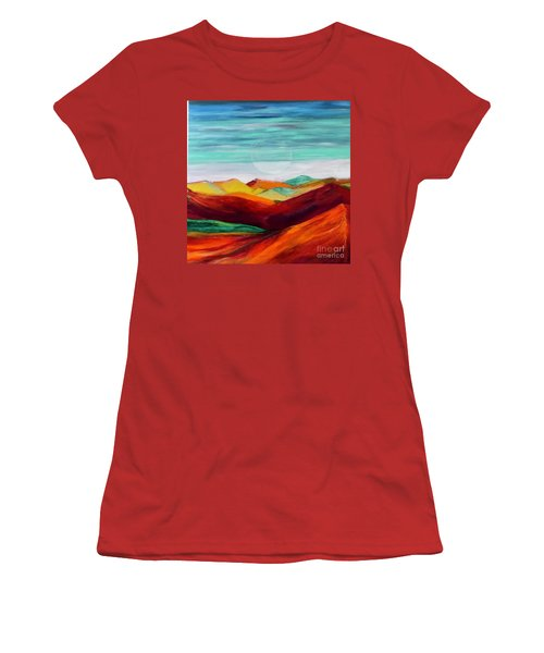 The Hills Are Alive Women's T-Shirt (Junior Cut) by Kim Nelson