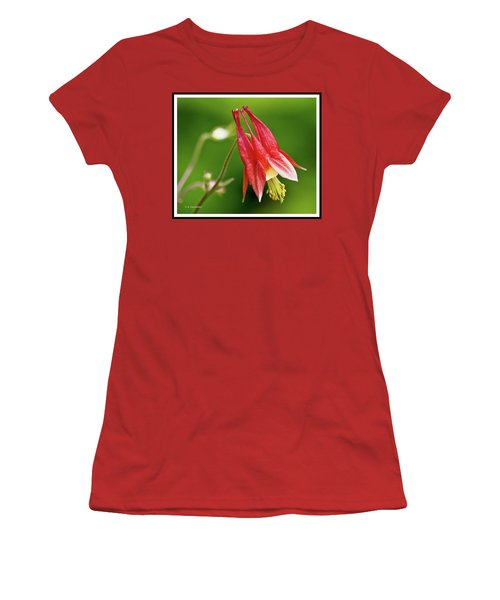 Wild Columbine Flower Women's T-Shirt (Athletic Fit)