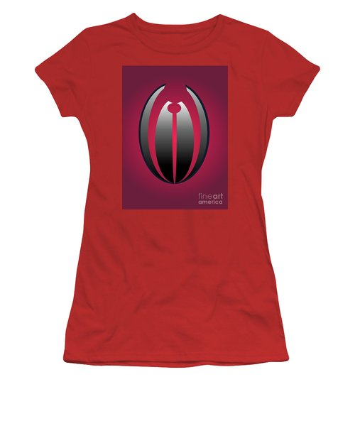 Women's T-Shirt (Junior Cut) featuring the digital art 1328 Red by John Krakora