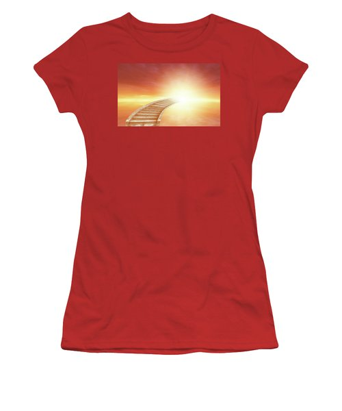 Women's T-Shirt (Junior Cut) featuring the photograph Stairway To Heaven by Les Cunliffe