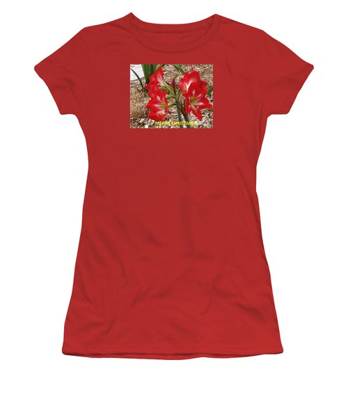 Christmas Card Women's T-Shirt (Junior Cut) by Rod Ismay