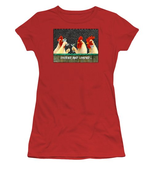 Cocked And Loaded... Women's T-Shirt (Junior Cut) by Will Bullas