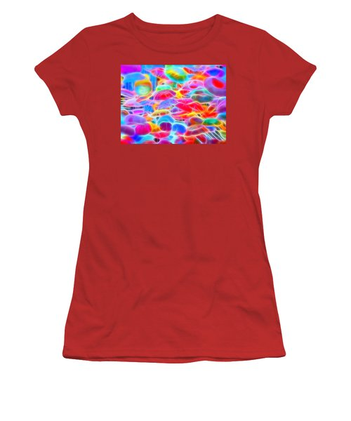 In Color Abstract 9 Women's T-Shirt (Athletic Fit)