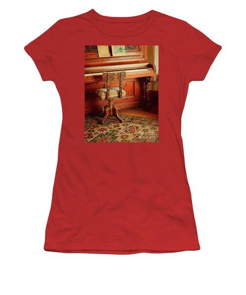 Women's T-Shirt (Junior Cut) featuring the photograph Vintage Piano by Jill Battaglia