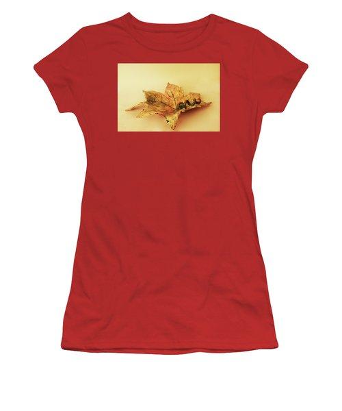 Leaf Plate1 Women's T-Shirt (Junior Cut) by Itzhak Richter