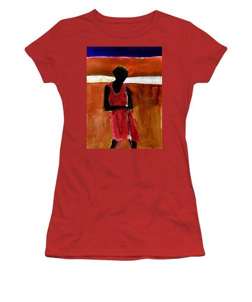 Masaai Boy Women's T-Shirt (Athletic Fit)