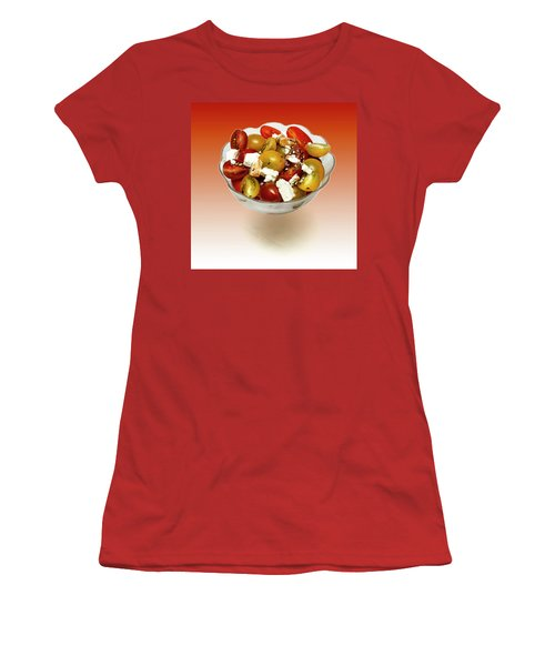 Plum Cherry Tomatoes Women's T-Shirt (Junior Cut) by David French