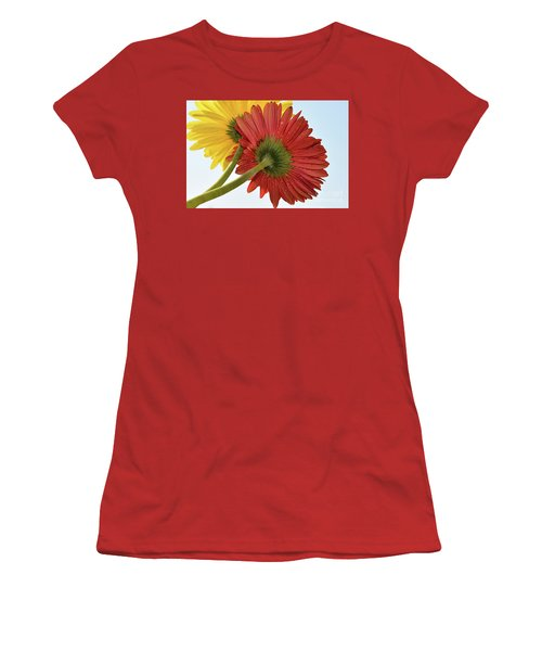 Red And Yellow Women's T-Shirt (Athletic Fit)