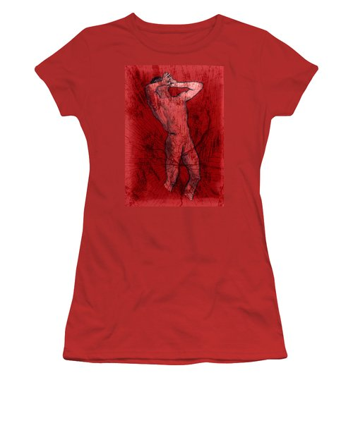Nude Man Women's T-Shirt (Athletic Fit)