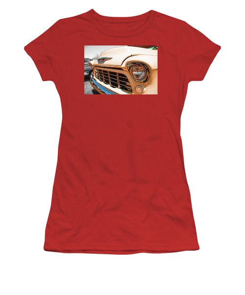 '55 Chevy 3100 Women's T-Shirt (Athletic Fit)