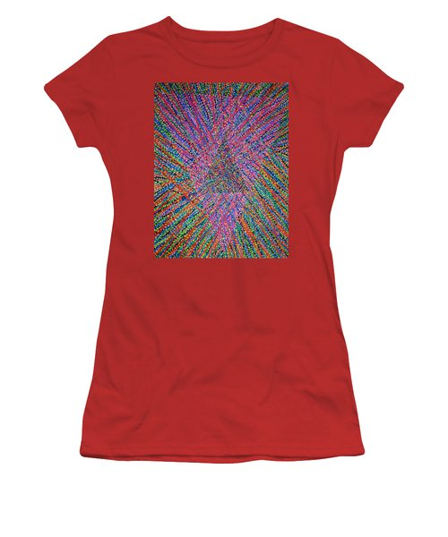 Women's T-Shirt (Junior Cut) featuring the painting Mobius Band by Kyung Hee Hogg