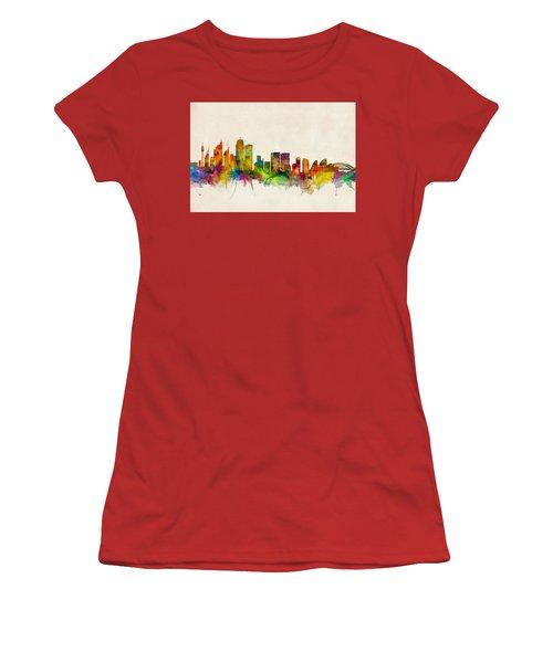 Sydney Australia Skyline Women's T-Shirt (Junior Cut) by Michael Tompsett
