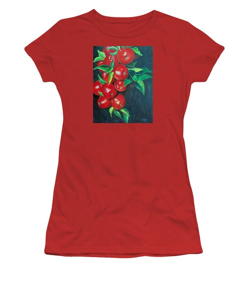 Women's T-Shirt (Junior Cut) featuring the painting A Bumper Crop by Susan DeLain