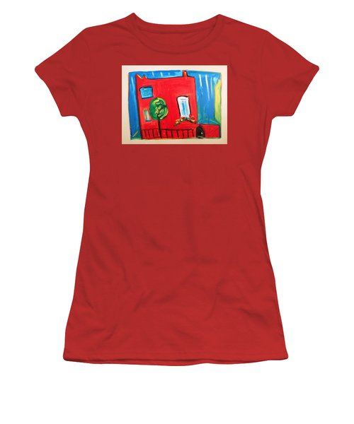 A House With A Smile To Give Women's T-Shirt (Junior Cut) by Mary Carol Williams