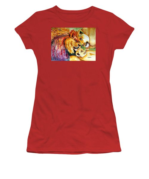 A Lion's Pride Women's T-Shirt (Junior Cut) by Maria Barry