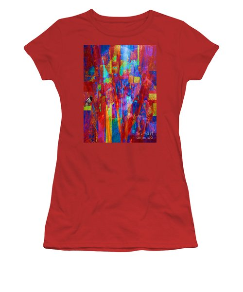 A Magpie At Wallstreet Women's T-Shirt (Junior Cut) by Mojo Mendiola