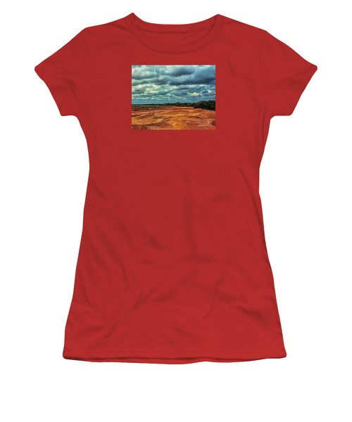 Women's T-Shirt (Junior Cut) featuring the photograph A River Of Red Sand by Diana Mary Sharpton
