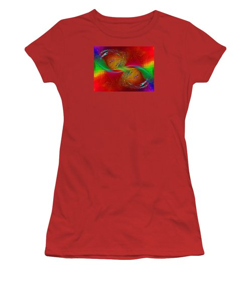Women's T-Shirt (Junior Cut) featuring the digital art Abstract Cubed 358 by Tim Allen