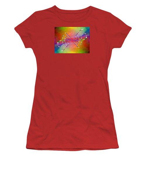 Women's T-Shirt (Junior Cut) featuring the digital art Abstract Cubed 364 by Tim Allen