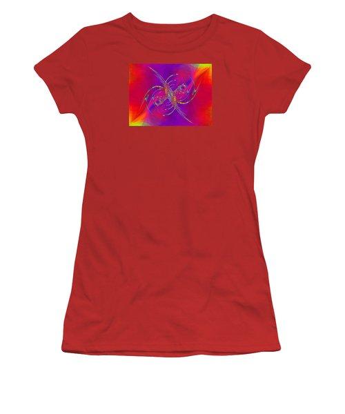 Women's T-Shirt (Junior Cut) featuring the digital art Abstract Cubed 365 by Tim Allen