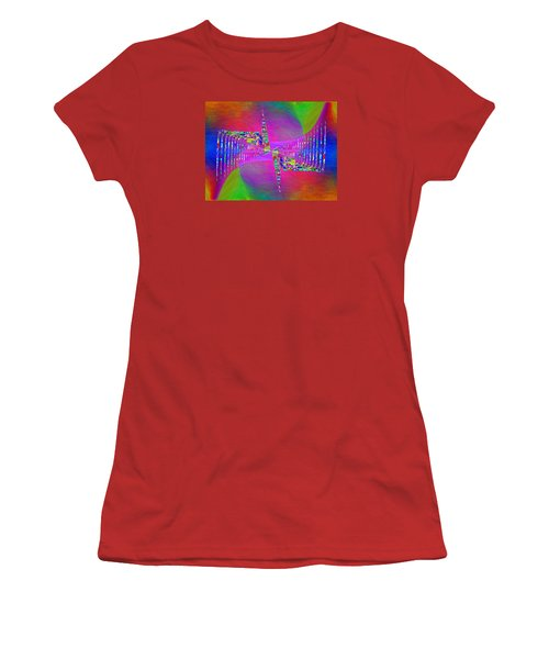 Women's T-Shirt (Junior Cut) featuring the digital art Abstract Cubed 373 by Tim Allen