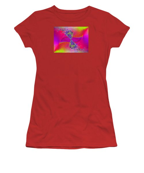 Women's T-Shirt (Junior Cut) featuring the digital art Abstract Cubed 377 by Tim Allen