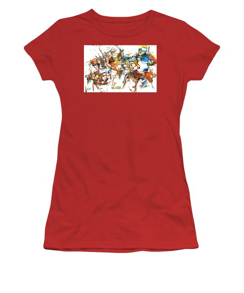 Women's T-Shirt (Athletic Fit) featuring the painting Abstract Expressionism Painting Series 1041.050812 by Kris Haas
