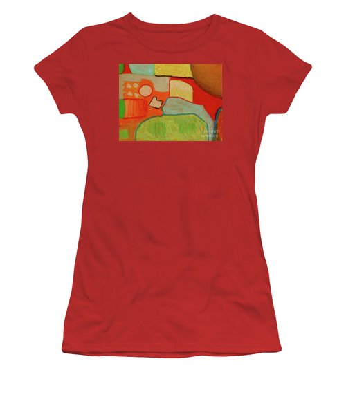 Women's T-Shirt (Junior Cut) featuring the pastel Abstraction123 by Paul McKey