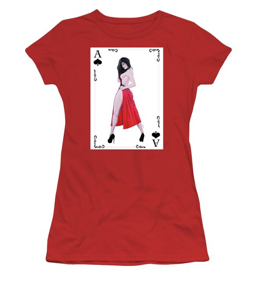 Ace Of Spades Women's T-Shirt (Junior Cut) by Joseph Ogle