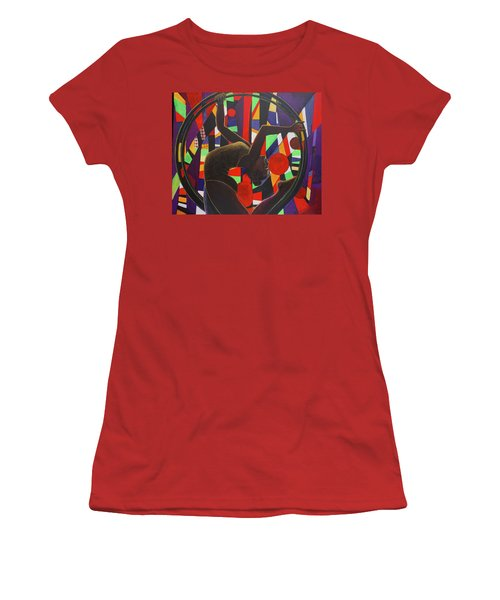 Acrobat In Ring Women's T-Shirt (Athletic Fit)