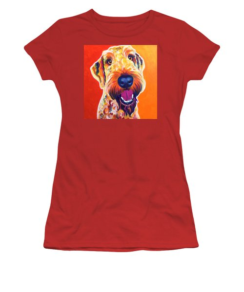 Airedoodle - Hank Women's T-Shirt (Athletic Fit)
