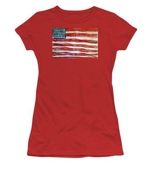 American Social Women's T-Shirt (Junior Cut) by Paulo Guimaraes