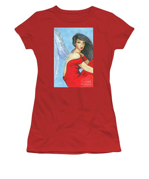 Angel Among Us Women's T-Shirt (Athletic Fit)