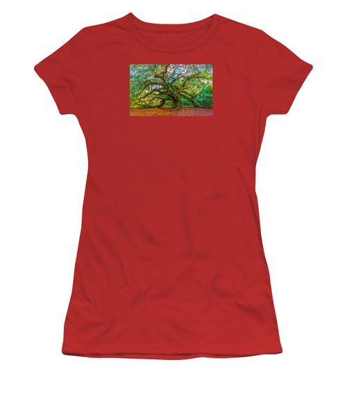 Angel Oak Tree Charleston Sc Women's T-Shirt (Junior Cut) by John McGraw