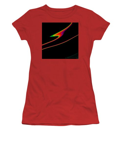 Women's T-Shirt (Junior Cut) featuring the painting Arcs  C2014 by Paul Ashby