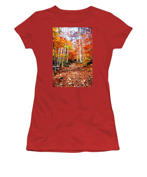 Arethusa Falls Trail Women's T-Shirt (Athletic Fit)