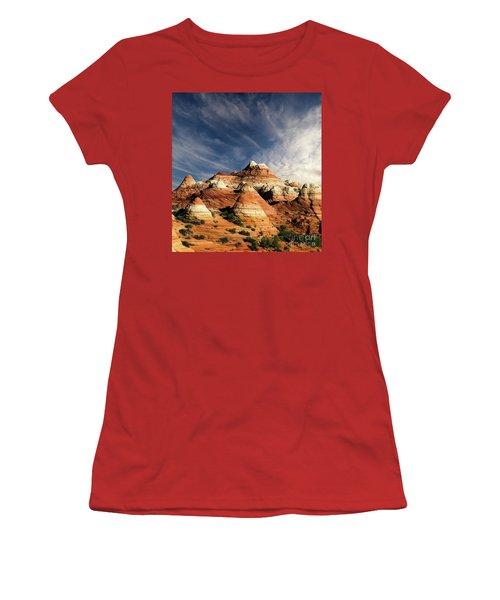Arizona North Coyote Buttes Women's T-Shirt (Junior Cut) by Bob Christopher