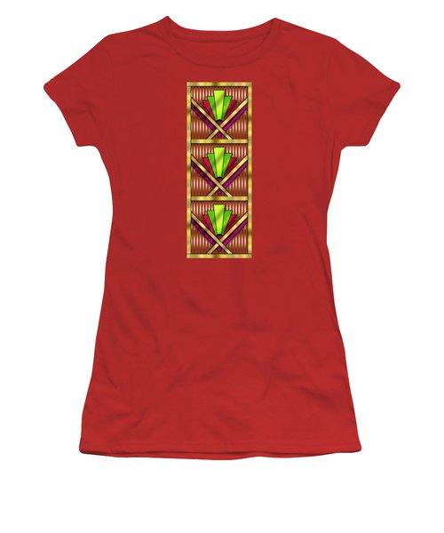 Art Deco 13 Tiles Women's T-Shirt (Junior Cut) by Chuck Staley