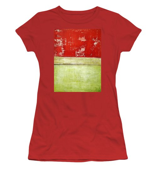 Art Print Rotgelb Women's T-Shirt (Athletic Fit)