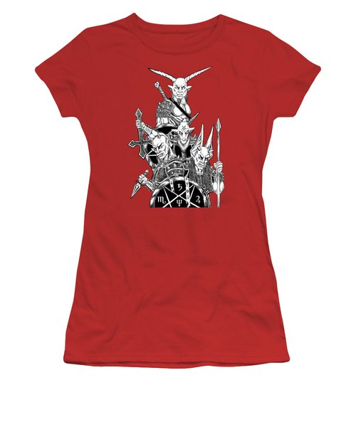 The Infernal Army White Version Women's T-Shirt (Junior Cut) by Alaric Barca